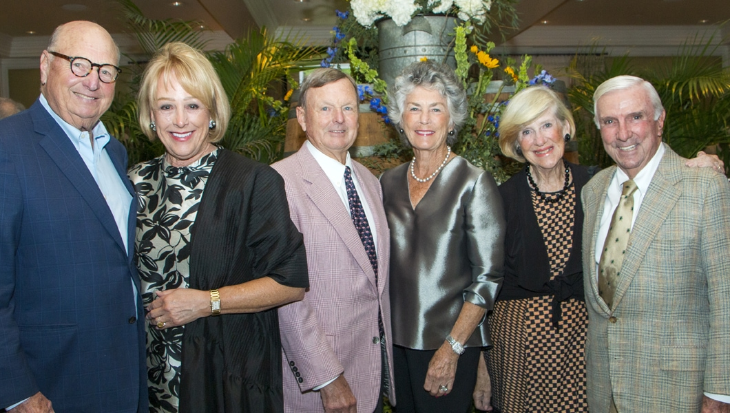 John's Island Foundation 20th Anniversary co-chairs: Ron and Nancy Rosner, Ned and Sherry Ann Dayton, Virginia and Warren Schwerin