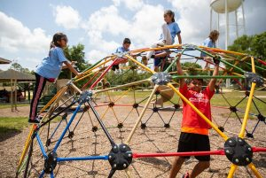 Boys & Girls Clubs of Indian River County kids playing on climbing structure