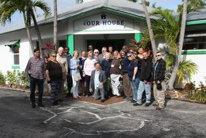Mental Health Association team photo in front of Our House program