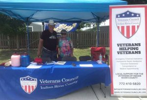 Veteran's Council of Indian River County man and woman at information table