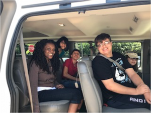 Education Foundation of Indian River County teens in car